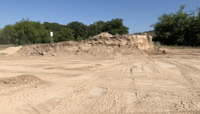 Emola Farm sand pit, East Texas